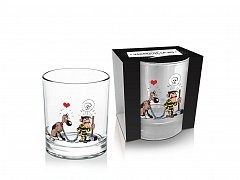 Lucky Luke Whisky Glass Dalton & Rantanplan
