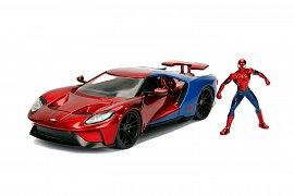 Marvel Diecast Model 1/24 Spider-Man & 2017 Ford GT
