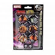 Marvel HeroClix: Avengers Black Panther and the Illuminati Dice and Token Pack