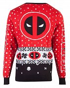 Marvel Knitted Christmas Sweater Deadpool Upside Down