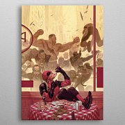 Marvel Metal Poster Deadpool Gritty Pizza Break 32 x 45 cm