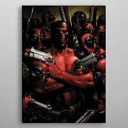 Marvel Metal Poster Deadpool Gritty Wrong Neighborhood 32 x 45 cm