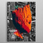 Marvel Metal Poster GOTG2 Groot 10 x 14 cm