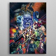 Marvel Metal Poster Infinity War Characters 32 x 45 cm