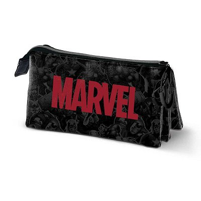 Marvel Pencil Case Marvel Logo Triple