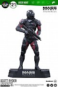 Mass Effect Andromeda Color Tops Action Figure Scott Ryder 18 cm