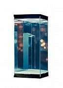 Master Revolving House Acrylic Display Case with Lighting for 1/8 and 1/9 Action Figures (black)