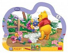 Medvídek Pů (puzzle s pastelkama)