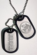 Metal Gear Solid Dog Tags with ball chain Peace Walker