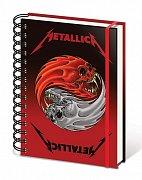 Metallica Wiro Notebook A5 Yin & Yang Skulls