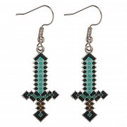 Minecraft Earrings Diamond Sword