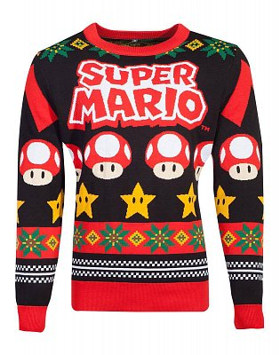 Nintendo Knitted Christmas Sweater Super Mario