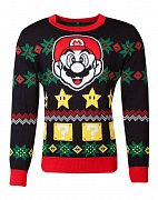 Nintendo Knitted Christmas Sweater Super Mario Night