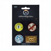 Overwatch Pin 4-Set Roadhog