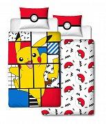 Pokemon Duvet Set Reversible Pikachu Memphis 135 x 200 cm / 48 x 74 cm