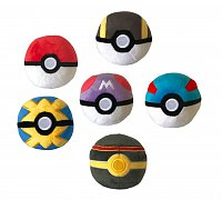 Pokémon Plush Pokéballs 7 cm Assortment (6)