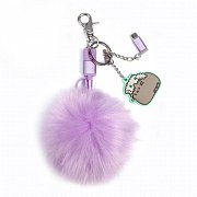 Pusheen USB Charging Cable 3in1 with Keychain Pom Pom