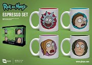 Rick and Morty Espresso Mugs 4-Pack Characters