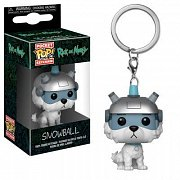 Rick and Morty Pocket POP! Vinyl Keychain Snowball 4 cm