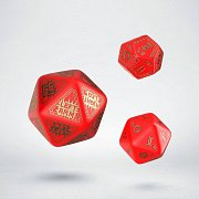 RuneQuest Dice Expension Set red & gold (3)