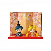 Sailor Moon Petit Chara Mini Figure 2 Set Hinamatsuri Usagi & Mamoru 6 cm