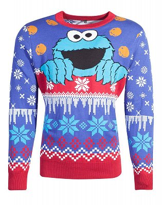 Sesame Street Knitted Christmas Sweater Cookie Monster
