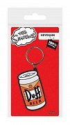 Simpsons Rubber Keychain Duff 6 cm