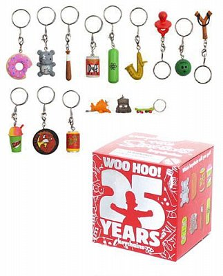 Simpsons Vinyl Keychains 4 cm Assortment 25th Anniversary (100)