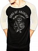 Sons of Anarchy Baseball Long Sleeve Shirt Reaper Logo