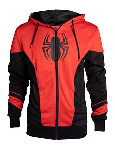 Spider-Man Hooded Sweater Red & Black Outfit - 1