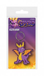 Spyro the Dragon Rubber Keychain Dragon Stance 6 cm - 1