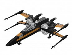 Star Wars Build & Play Model Kit with Sound & Light Up 1/78 Poe\'s Boosted X-Wing Fighter