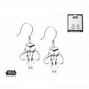 Star Wars Earrings Mandalorian Symbol Sterling Silver)