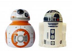 Star Wars Episode VII Salt and Pepper Pots BB-8 & R2-D2
