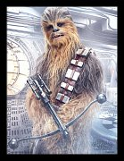 Star Wars Episode VIII Framed Poster Chewbacca Bowcaster 45 x 33 cm
