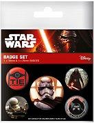 Star Wars Epizoda VII Odznáčky First Order - 5 kusů