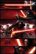 Star Wars Epizoda VII Plakáty Kylo Ren Panels - 5 kusů