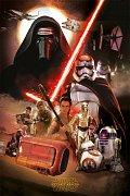 Star Wars Epizoda VII Plakáty Montage - 5 kusů