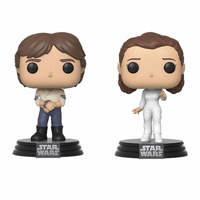Star Wars POP! Movies Vinyl Figures 2-Pack Han & Leila Empire Strikes Back 40th Anniversary 9 cm