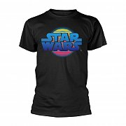 Star Wars T-Shirt Logo Neon Death Star