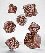 Steampunk Clowckwork Dice Set caramel & white (7)