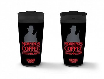 Stranger Things Travel Mug Coffee and Contemplation - 1