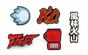 Street Fighter 5-Pack Pin Badges Icons