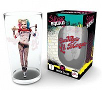 Suicide Squad Pint Glass Harley Bat