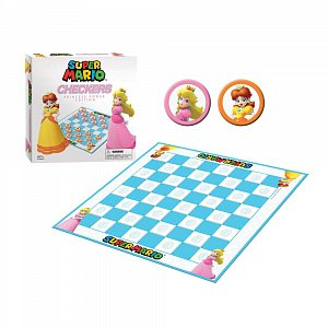 Super Mario Boardgame Checkers Princess Power --- DAMAGED PACKAGING - 2
