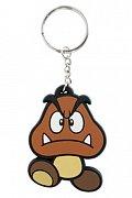 Super Mario Bros. Gumová klíčenka Goomba