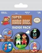 Super Mario Bros. Odznáčky - 5 kusů