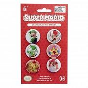 Super Mario Lenticular Pin Badges 6-Pack