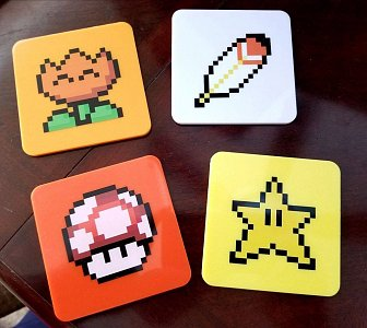 Super Mario World Coaster 4-Pack Power-Ups Lootcrate Exclusive - 1