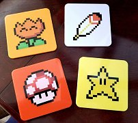Super Mario World Coaster 4-Pack Power-Ups Lootcrate Exclusive --- DAMAGED PACKAGING